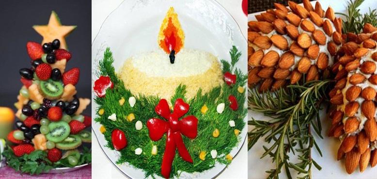 Как оригинально украсить блюда, способы оригинально украсить блюда, украшение блюд к празднику, украшение блюд на новый год, Татьяна Литвинова