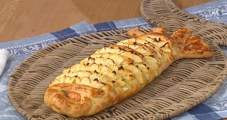 рыбный пирог с ананасами от Аллы Ковальчук, Алла Квальчук рыбный пирог, рыбный пирог с ананасами рецепт, как приготовить рыбный пирог с ананасами