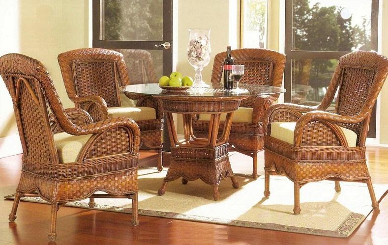 как очистить плетеную мебель