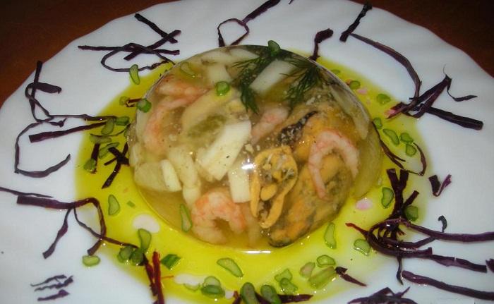 Алла Ковальчук заливное из морепродуктов, заливное из морепродуктов от Аллы Ковальчук, как приготовить заливное из морепродуктов, заливное из морепродуктов рецепт