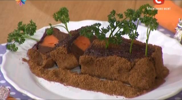 торт грядка с морковью рецепт, александр педан торт грядка с морковью, торт александр педан, торт на 1 апреля рецепт