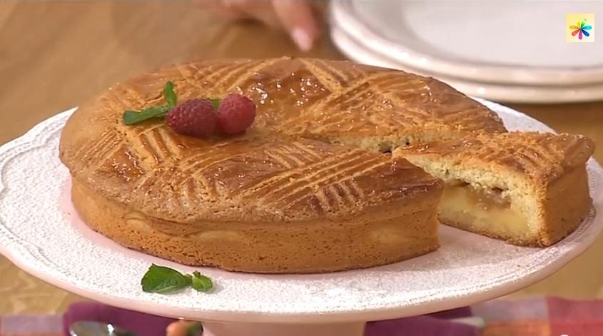 баскский пирог рецепт, лиза глинская баскский пирог, пирог с грушами рецепт, Лиза Глинская рецепты,