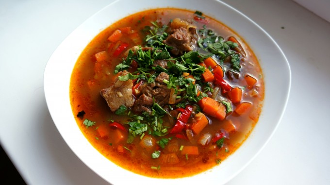 рецепты Сергея Калинина, суп из баранины рецепт, суп из баранины с фасолью