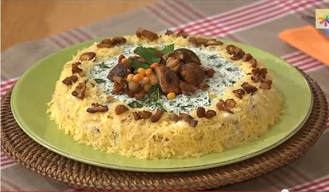 грибной пирог рецепт, грибной бисквит от сергея калинина, бисквитный пирог с грибами, Сергей Калинин рецепты,