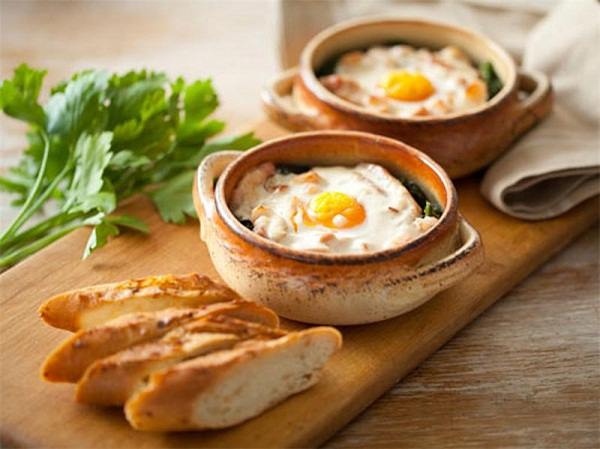 яйцо кокот рецепт, яйцо в булочке рецепт, Винченцо Барба рецепты,