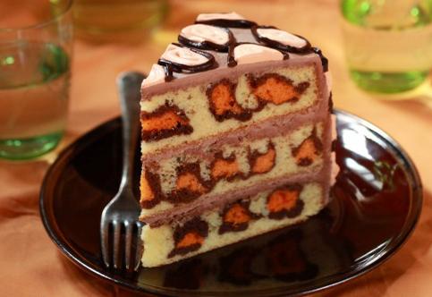 леопардовый торт рецепт, Лиза Глинская рецепты, леопардовый торт лиза глинская