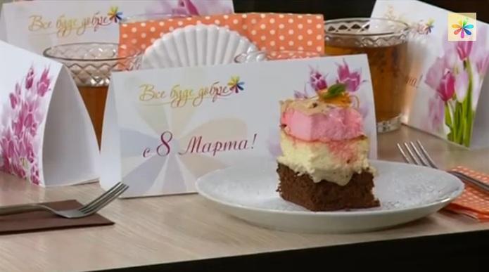 трехцветный сырник рецепт, творожный торт рецепт, Сергей Калинин рецепты,