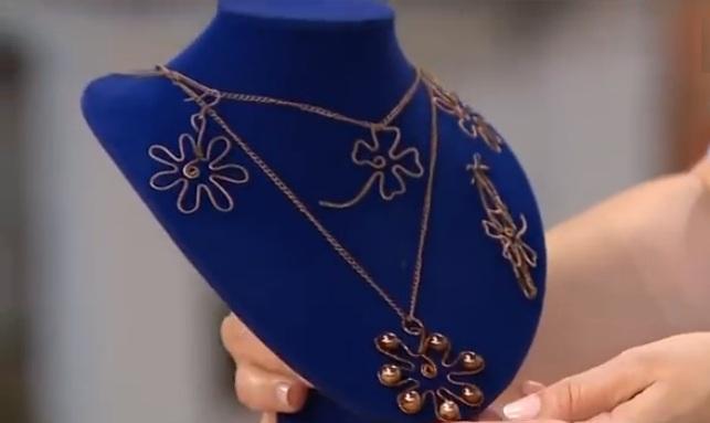 винтажные украшения handmade, украшения из проволоки handmade, украшения из проволоки своими руками,