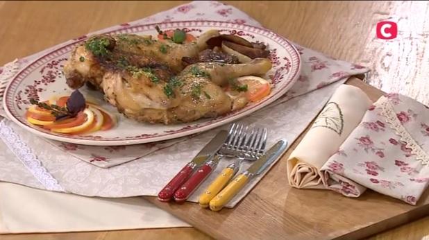 курица в духовке рецепт, Сергей Калинин курица, курица по-испански рецепт