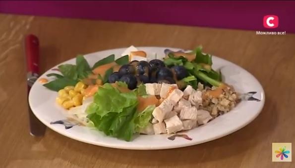 диетический салат рецепт, рецепты диетических блюд,