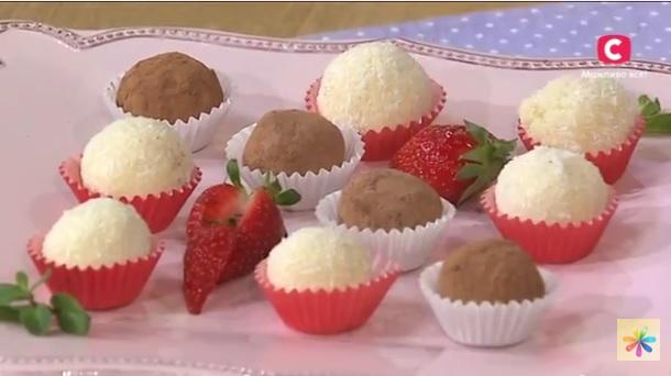 Татьяна Литвинова рецепты, конфеты трюфель рецепт, клубничные трюфели рецепт, как приготовить домашние конфеты, конфеты в домашних условиях,
