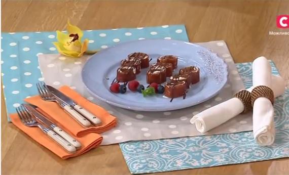 десерт из персиков, рулет из персиков, Лиза Глинская рецепты,