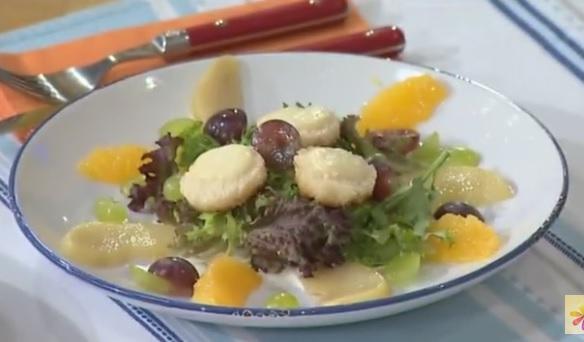 салат с виноградом рецепт, теплый салат рецепт, Татьяна Литвинова рецепты,