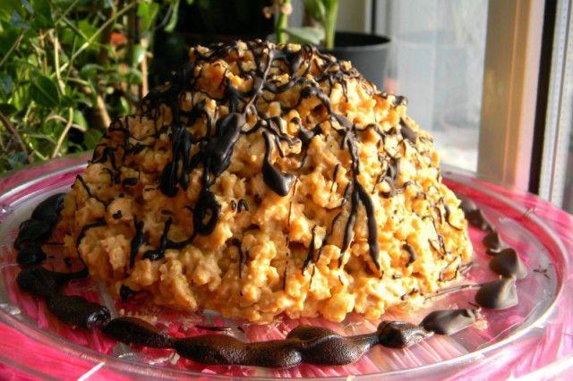 Как приготовить муравейник с печеньем в домашних