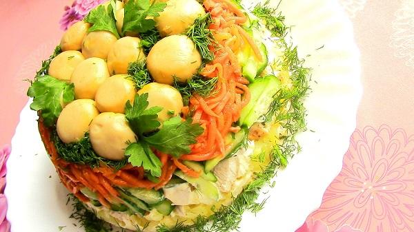 Все буде смачно, все буде смачно грибная поляна, салат грибная поляна рецепт